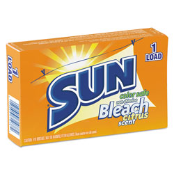 Sun Products Color Safe Powder Bleach, Vend Pack, 1 load Box, 100/Carton