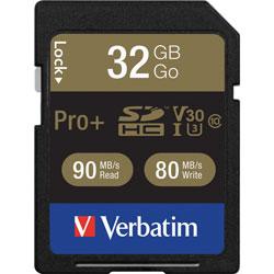 Verbatim Memory Card, SDHC, 90MB/s Read Speed, 32GB