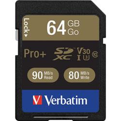 Verbatim Memory Card, SDXC, 90MB/s Read Speed, 64GB