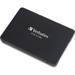Verbatim Internal SSD, 2.5 in, 560MB/s Read/535MB/s Write, 128GB, Black