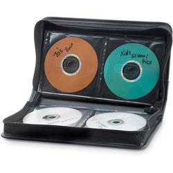 Verbatim Storage Wallet, for CD/DVDs, 64-Disc Capacity, Black