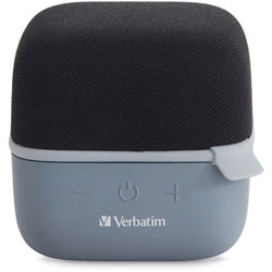 Verbatim Bluetooth Speaker System - Black - 100 Hz to 20 kHz - TrueWireless Stereo - Battery Rechargeable - 1 Pack