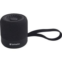 Verbatim Portable Bluetooth Speaker System - Black - 100 Hz to 20 kHz - TrueWireless Stereo - Battery Rechargeable - 1 Pack