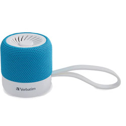 Verbatim Portable Bluetooth Speaker System - Teal - 100 Hz to 20 kHz - TrueWireless Stereo - Battery Rechargeable - 1 Pack