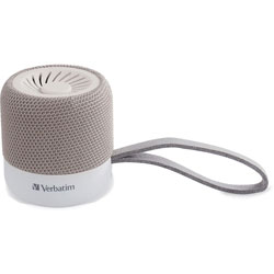Verbatim Portable Bluetooth Speaker System - White - 100 Hz to 20 kHz - TrueWireless Stereo - Battery Rechargeable - 1 Pack