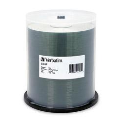 Verbatim CD R, 52X Speed, 700MB/80Min, Shiny Silver, 100/Pack