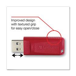 Verbatim Store 'n' Go USB Flash Drive, 8 GB, Red