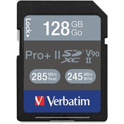 Verbatim Memory Card, SDXC, 129GB, 295 Read/255 Write Speed, Black