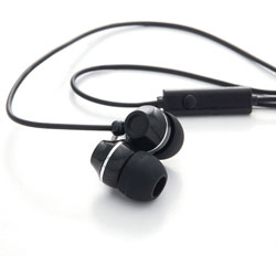 Verbatim Ear Phones w/Microphone, Stereo, Black