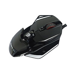 Verbatim Authentic R.A.T. 2 Plus Optical Gaming Mouse, USB 2.0, Left/Right Hand Use, Black