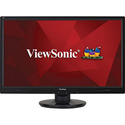Viewsonic LED Monitor, Full HD, 25.4 inW x 9.8 inD x 17.4 inH, Black