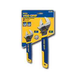Vise Grip Two-Piece Adjustable Wrench Set, 6 in and 10 in Long
