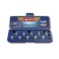 Vim Products 10 Piece Half Cut TORx Driver Set, T10 thru T50