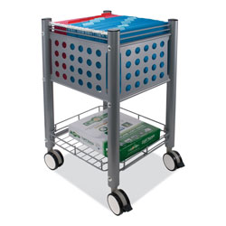 Vertiflex Products Sidekick File Cart, One-Shelf, 13.75w x 15.5d x 26.25h, Matte Gray