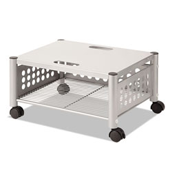 Vertiflex Products Underdesk Machine Stand, One-Shelf, 21.5w x 17.88d x 11.5h, Matte Gray