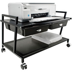 Vertiflex Products Printer Stand with Drawer, Black
