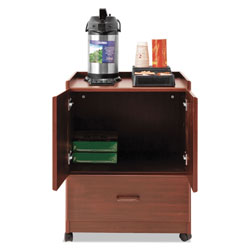Vertiflex Products Mobile Deluxe Coffee Bar, 23w x 19d x 30.75h, Cherry