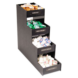 Advantus Narrow Condiment Organizer, 6w x 19d x 15 7/8h, Black