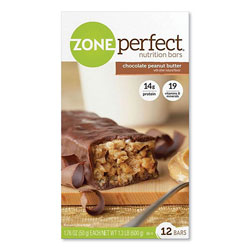 ZonePerfect  Nutrition Bars, Chocolate Peanut Butter, 1.76 oz Individually Wrapped, 12/Box