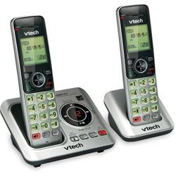 Vtech Cordless Phone, 2-Handset, 5-1/5 inWx6-7/10 inLx6-9/10 inH, Silver