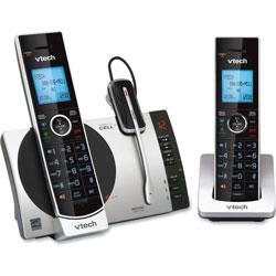 Vtech Cordless Headset Phone System, f/Cell Phone, 2 Handset, Black