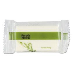 Pure & Natural™ Body & Facial Soap, # 3/4, Fresh Scent, White 1000/Carton