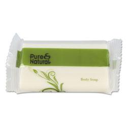 Pure & Natural™ Body & Facial Soap, # 1 1/2, Fresh Scent, White, 500/Carton