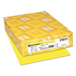 Astrobrights Color Paper, 24 lb, 8.5 x 11, Lift-Off Lemon, 500/Ream
