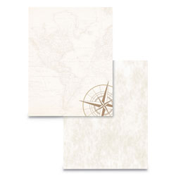 Astrodesigns® Pre-Printed Paper, 24 lb, 8.5 x 11, Map and Compass, 50/Pack