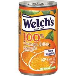 Welch's® Orange Juice, 100% Fruit Juice, 5.5 oz, 48/CT