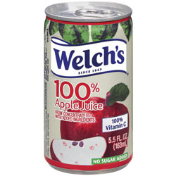 Welch's® Apple Juice, 100% Fruit Juice, 5.5 oz, 48/CT