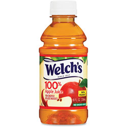 Welch's® Apple Juice, 10oz., 24/CT, Brown