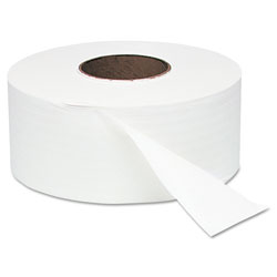 Windsoft Jumbo Roll Bath Tissue, Septic Safe, 2 Ply, White, 3.4 in x 1000 ft, 12 Rolls/Carton