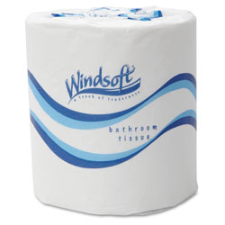 Windsoft Bath Tissue, Septic Safe, 2-Ply, White, 4.5 x 3, 500 Sheets/Roll, 48 Rolls/Carton
