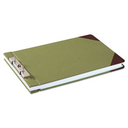 Wilson Jones Canvas Sectional Storage Post Binder, 2 Posts, 3 in Capacity, 8.5 x 14, Green
