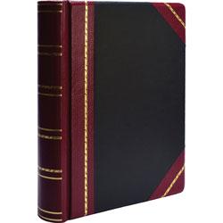 """Wilson Jones Minute Book Binder, 500 Sheet Cap, 11""""x8 1/2"""", Red/Black"""