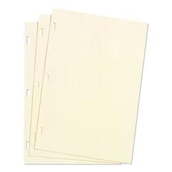 Wilson Jones Looseleaf Minute Book Ledger Sheets, Ivory Linen, 11 x 8-1/2, 100 Sheet/Box