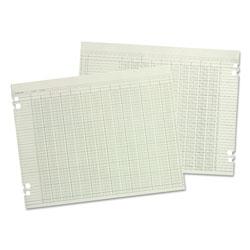 Wilson Jones Accounting Sheets, 10 Column, 9-1/4 x 11-7/8, 100 Loose Sheets/Pack, Green
