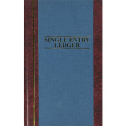 "Wilson Jones Account Book, S.E. Ledger Ruled, 150 Pages, 11 3/4"" x 7 1/4"" Blue"