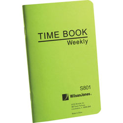 """Wilson Jones Time Book, Pocket Size, Weekly/1 Page, 6 3/4""""x4 1/8"""", White"""