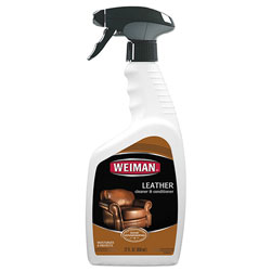 Weiman Products Leather Cleaner and Conditioner, Floral Scent, 22 oz Trigger Spray Bottle, 6/CT