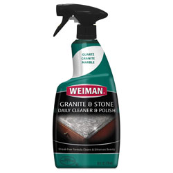 Weiman Products Granite Cleaner and Polish, Citrus Scent, 24 oz Bottle, 6/Carton