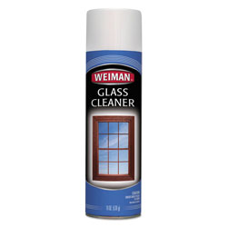 Weiman Products Foaming Glass Cleaner, 19 oz Aerosol Can, 6/Carton