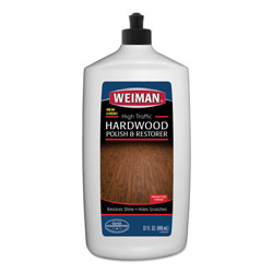 Weiman Products High Traffic Hardwood Polish and Restorer, 32 oz Squeeze Bottle