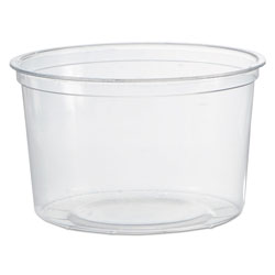 WNA Comet Deli Containers, Clear, 16oz, 50/Pack, 10 Packs/Carton