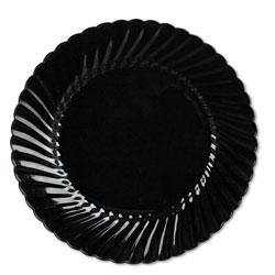 WNA Comet Classicware Plates, Plastic, 10.25 in, Black, 144/case