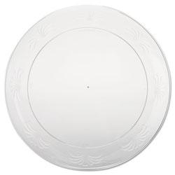 WNA Comet Designerware Plastic Plates, 9 Inches, Clear, Round