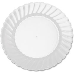 WNA Comet Classicware Plastic Plates, 6 in Diameter, Clear, 12 Plates/Pack