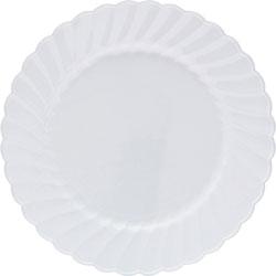 WNA Comet Classicware Plastic Dinnerware Plates, 6 in Dia, White, 12/Pack