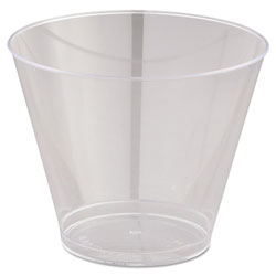 WNA Comet Comet Smooth Wall Tumblers, 9oz, Clear, Squat, 25/Pack, 20 Packs/Carton